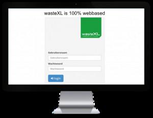 wasteXL is volledig webbased